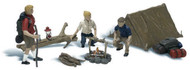 Woodland Scenics N Scale Scenic Accents Figures/People Campers & Accessories (8)