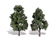 "Woodland Scenics Classic Trees Ready Made Cool Shade 6"" to 7"" Tall 2-Pack"