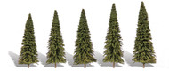 "Woodland Scenics Classic Trees Ready Made Forever Green 2-1/2"" to 4"" Tall 5-Pack"