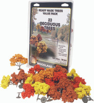 "Woodland Scenics Fall Colors Deciduous Ready Made Trees 2"" to 3"" 23-Pack"