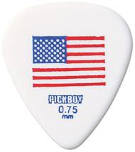 Pickboy USA America Flag Red/White/Blue Guitar/Bass Picks 0.75mm (10pk)