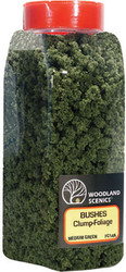 Woodland Scenics Model Railroad Landscape Bushes Foliage Shaker Medium Green
