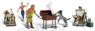Woodland Scenics N Scale Scenic Accents Figures/People Set Backyard Barbeque