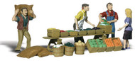 Woodland Scenics O Scale Scenic Accents Figures/People Set Farmers Market