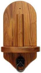Deluxe HJ Scott Wall Mounted Pool/Billiard Cone Chalk Holder - Oak Finish