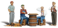 Woodland Scenics O Scale Scenic Accents Figures/People Set Checkers Players (4)