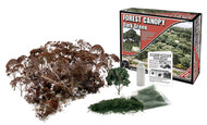 Woodland Scenics Forest Canopy Kit (Bushes, Trees, and Underbrush) Dark Green