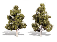 "Woodland Scenics Classic Trees Ready Made Waters Edge 7"" to 8"" Tall 2-Pack"