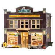Woodland Scenics O Scale Built-Up Building/Structure Harrison's Hardware