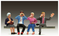 LGB G Scale Figure Set - Pedestrians - Dining Car Figures - Seated 4-Pack