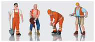 LGB G Scale Figure Set - Figures - Workers 4-Pack