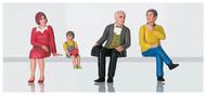 LGB G Scale Figure Set - Pedestrians - Nostalgic Figures Seated Set #2
