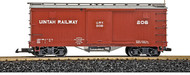 LGB G Scale 40ft. Wooden Box Freight Car Uintah Railway Boxcar (Brown) #206