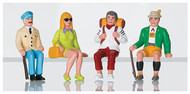 LGB G Scale Figure Set - Pedestrians - Tourists Seated