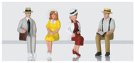 LGB G Scale Figure Set - Pedestrians - Seated - Americans 4-Pack