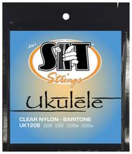 SIT UK120B Clear Nylon Baritone Ukulele/Uke Strings - 6 PACKS