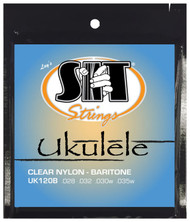 SIT UK120B Clear Nylon Baritone Ukulele/Uke Strings - 3 PACKS