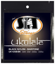 SIT UK120B-BK Black Nylon Baritone Ukulele/Uke Strings - 6 PACKS