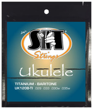 SIT UK120B-TI Titanium Nylon Baritone Ukulele/Uke Strings - 6 PACKS