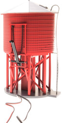Broadway Limited HO Scale Operating Water Tower with Sound - Painted Red/Undec