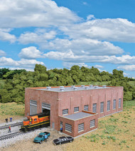 Walthers Cornerstone N Scale Building/Structure Kit 2-Stall Brick Diesel House