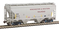 American Limited HO Scale TrinityRail Covered Hopper Winchester Western/WW #9538