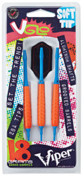 Viper by GLD V Glo Orange and Blue Soft Tip Darts 18 Grams