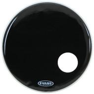 """Evans EQ3 Series BD20RB Resonant Single Ply 20"""" Black Drumhead Drum Head"""