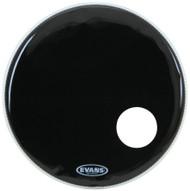 """Evans BD22RB 22"""" 1 Ply EQ3 Resonant Bass Drum Head Black"""