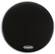"""Evans EQ1 Series BD22RA Resonant Single Ply 22"""" Black Drumhead Drum Head"""