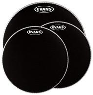 Evans Onyx Series Two Ply Standard Tom Pack Coated Black Drumhead Drum Head