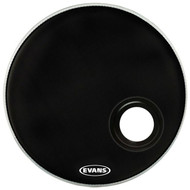 "Evans REMAD BD22REMAD Resonant Bass Single Ply 22"" Black Drumhead Drum Head"