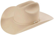 Stetson 10X Shasta Silverbelly Beaver Fur Felt Cowboy Western Hat - Size 7