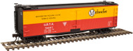 Atlas HO Scale 40' Wood Reefer Car Marhoefer Packing (Yellow/Red/Black) #72207