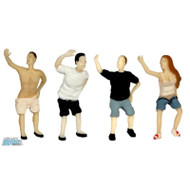 Atlas/BLMA Models N Scale People Mooning Figure Set - Gag/Joke Model Set 4-Pack