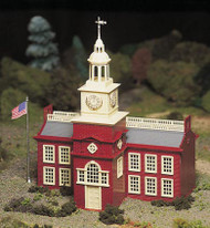 Plasticville O Scale USA Classic Building/Structure Kit Town Hall