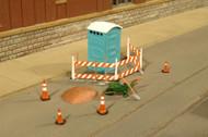 Bachmann HO Scale Building Site SceneScapes Accessory Set