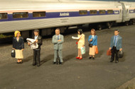 Bachmann HO Scale SceneScapes Figure Set Standing Passengers 6-Pack