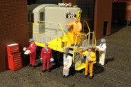 Bachmann HO Scale SceneScapes Figure Set Mechanics 6-Pack
