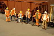 Bachmann HO Scale SceneScapes Figure Working People Maintenance Workers 6-Pack