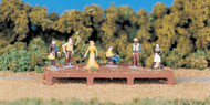 Bachmann HO Scale SceneScapes Figure Set Old West People 6-Pack