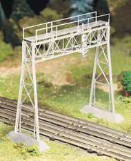 Plasticville O Scale USA Classic Building/Structure Kit Signal Bridge (Silver)