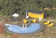 Bachmann HO Scale Park Accessories - Swimming Pool & Accessories