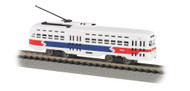 Bachmann N Scale Electric President's Committee Car (PCC) Trolley SEPTA (RWB)