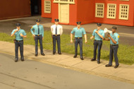 Bachmann HO Scale SceneScapes Figure Set Working People Police Squad 6-Pack
