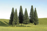 Bachmann Pine Trees SceneScapes 5 to 6in 12.7 to 15.2cm 6-Pack