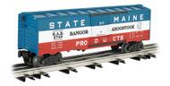 Bachmann Williams O Scale 40ft Steel Boxcar 3-Rail Bangor & Aroostook/B&A #9709