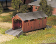 Plasticville O Scale USA Classic Building/Structure Kit Covered Bridge