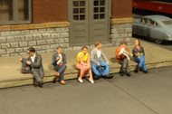 Bachmann HO Scale SceneScapes Figure Set Seated Passengers 6-Pack