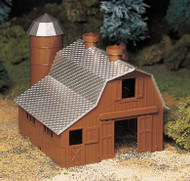 Plasticville O Scale USA Classic Building/Structure Kit Dairy Barn